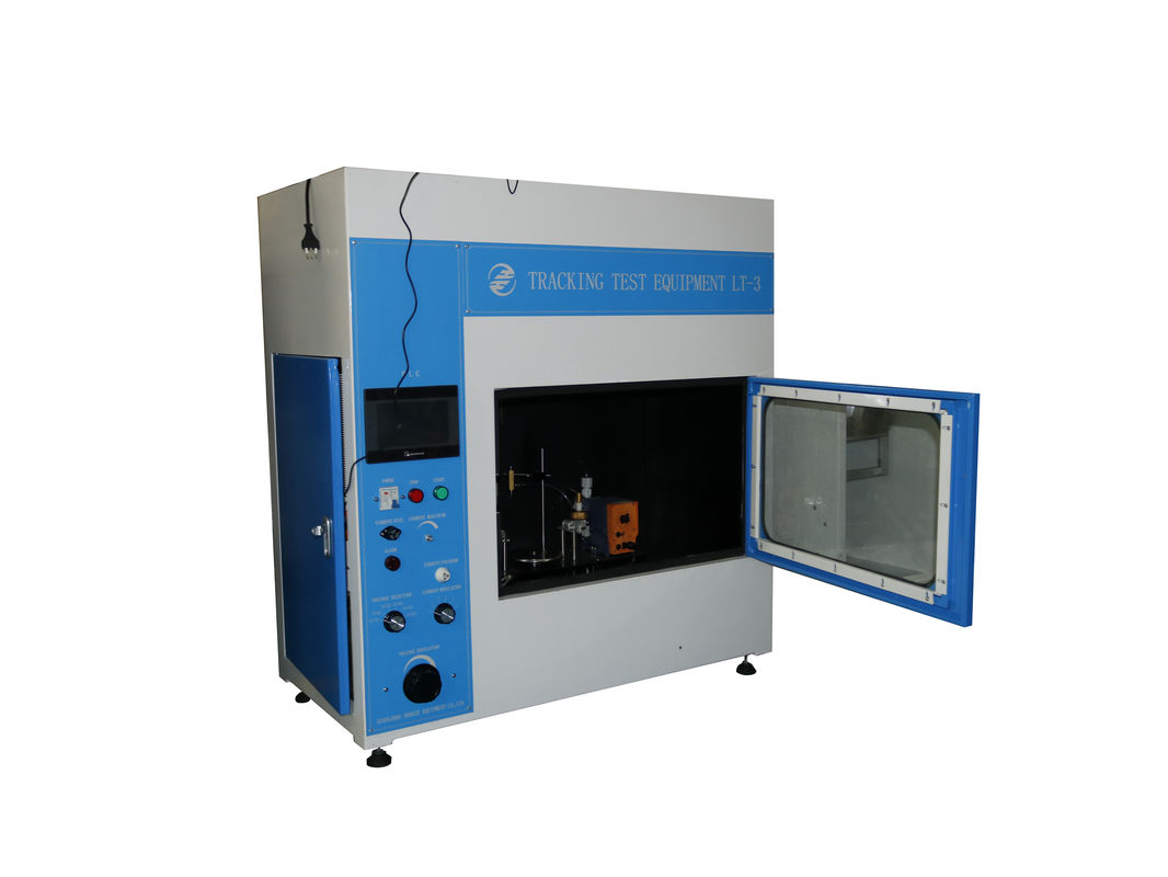 Touch - Screen Flammability Test Chamber / Tracking Test Equipment 0.5 M³ Stainless Steel Plate